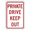 Lyle PPR-011-12HA Parking Sign, 18 x 12In, R/WHT, Text