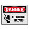 Electromark Y453460 Danger Label, Electrical Hazard, PK 8