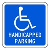 Tapco 373-05720 Parking Sign, 12 x 12In, WHT/BL, G-42, MUTCD