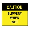 Accuform Signs XC759 Caution Sign, 10 x 14In, BK/YEL, ENG, Text