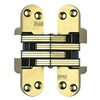 Soss 218US4 Hinge, Invisible, Satin Brass, 4 5/8 In