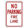 Lyle LR7-22-12HA Fire Lane Sign, 18 x 12In, R/WHT, ENG, Text