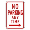 Zing 2368 Parking Sign, 18 x 12In, R/WHT, R7-1R, MUTCD