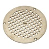 Zurn Industries JP2280-R6-STR-GRAIN Replacement Grate, Round, Dia 6 In