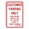 Lyle RP-017-RW-12HA Parking Sign, 18 x 12In, R/WHT, Text