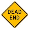 Lyle W14-1-24HA Traffic Sign, 24 x 24In, BK/YEL, Dead End