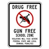 Lyle DF-026-12HA School Zone Sign, 18 x 12In, R and BK/WHT
