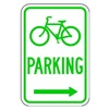 Lyle D4-3R-12HA Parking Sign, 18 x 12In, GRN/WHT, PRKG