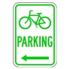 Lyle D4-3L-12HA Parking Sign, 18 x 12In, GRN/WHT, PRKG