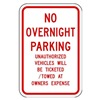 Lyle NP-056-12HA Parking Sign, 18 x 12In, R/WHT, Text