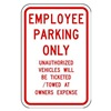 Lyle RP-022-RW-12HA Parking Sign, 18 x 12In, R/WHT, Text