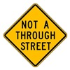 Brady 115536 Traffic Sign, 24 x 24In, BK/YEL, Text