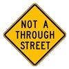 Lyle LW14-1A-24HA Traffic Sign, 24 x 24In, BK/YEL, Text, MUTCD