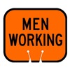 Tapco 535-00021 Traffic Cone Sign, Orng w/Blk, Men Working
