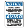 Accuform Signs MSAD805VP Notice Sign, 14 x 10In, BL and BK/WHT, Text