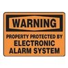 Accuform Signs MASE303VP Warning Sign, 10 x 14In, BK/ORN, ENG, Text