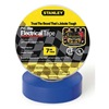 Stanley 3ZGK2 Electric Tape, 3/4 In, 66 Ft, 7 Mil, Blue