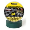 Stanley 3ZGK3 Electric Tape, 3/4 In, 66 Ft, 7 Mil, Green