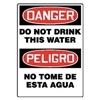 Accuform Signs MSCA103VP Danger Sign, 14 x 10In, R and BK/WHT, Text