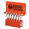 Master Lock S1506 Padlock Station, Unfilled, 4 Components