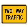 Lyle W6-3P-24HA Traffic Sign, 18 x 24In, BK/YEL, 2WAY TRFC