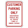 Lyle RP-017-RW-18HA Parking Sign, 24 x 18In, R/WHT, Text