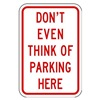 Lyle LR7-81-12HA Parking Sign, 18 x 12In, R/WHT, Text