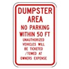 Lyle DL-019-12HA Parking Sign, 18 x 12In, R/WHT, Text