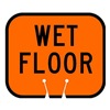 Tapco 535-00019 Traffic Cone Sign, Orange w/Blk, Wet Floor