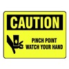 Brady 27430LS Safety Sign Label, 3-1/2 In. H, PK 20