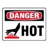 Electromark L278-H Danger Label, 5 In. W, 3-1/2 In. H, PK 8
