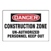 Accuform Signs MADM101VP Danger Sign, 24 x 36In, R and BK/WHT, ENG