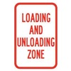Brady 115236 Traffic Sign, 18 x 12In, R/WHT, Text, MUTCD