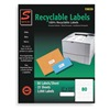 Simon By Sjpaper SL15029 Laser Label, White, 1 3/4In, PK25