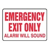 Accuform Signs MEXT921VP Exit Sign, 10 x 14In, R/WHT, PLSTC, ENG, Text