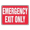 Accuform Signs MEXT441VS Exit Sign, 10 x 14In, R/WHT, Self-ADH, ENG