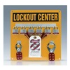 Accuform Signs KST404 Lockout Center, 28 Components, 6 Locks