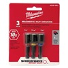 Milwaukee 49-66-4561 Mag Nut Driver Set, 1/4, 5/16, 3/8 In, 3 Pc