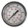 Approved Vendor 4EFE5 Pressure Gauge, 63 mm, 100 psi, Back