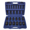 Westward 4PRG7 Impact Socket Set, 1/2 Dr, 6 Pt, Deep, 26 Pc