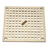 Zurn Industries JP2280-S6-STR-GRAIN Replacement Grate, Square, Pipe Dia 4 In