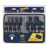 Bosch DSB5013P Stubby Spade Bit Set, 1/4-1 1/2, 6 L, 13 Pc
