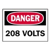 Brady 86059 Danger Label, Electrical Hazard, PK 5