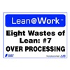 Zing 2172 Lean Processes Sign, 10 x 14In, ENG, Text