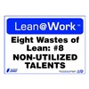 Zing 2173 Lean Processes Sign, 10 x 14In, ENG, Text