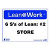 Zing 2175 Lean Processes Sign, 10 x 14In, ENG, Text