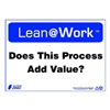 Zing 2189 Lean Processes Sign, 10 x 14In, ENG, Text