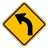 Lyle W1-2L-24HA Traffic Sign, 24 x 24In, BK/YEL, SYM, MUTCD