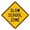 Lyle S3-5-24HA Traffic Sign, 24 x 24In, BK/YEL, Text, S3-5