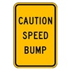 Lyle TR-035-12HA Traffic Sign, 18 x 12In, BK/YEL, Text